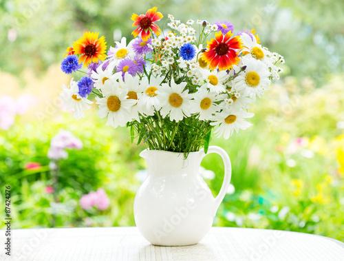 fototapeta na ścianę bukiet kwiatów letnich