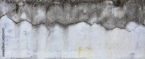Foto op Aluminium Wand Crack pattern on cement wall