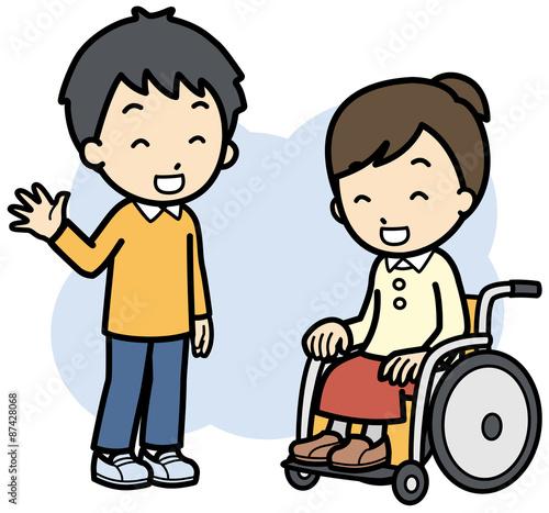 Valokuva  健常者と障害者
