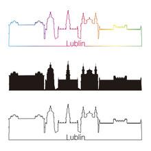 Lublin Skyline Linear Style Wi...