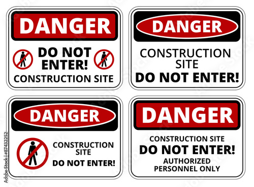 Photo Danger sign