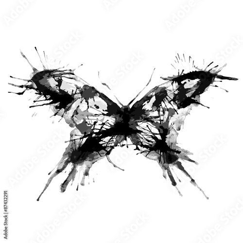 Deurstickers Art Studio butterflies design