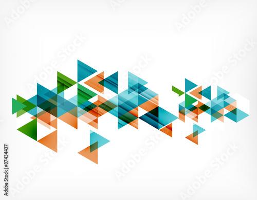 Foto op Plexiglas Geometrische dieren Triangle pattern composition, abstract background with copyspace