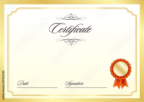 Certificate template adobe stock certificate template yelopaper Image collections