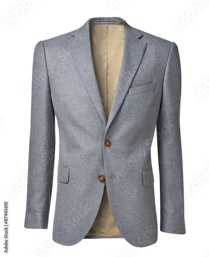 mens jacket isolated on white with clipping path Wall mural