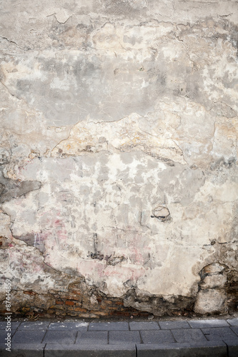 Poster Vieux mur texturé sale Aged street wall