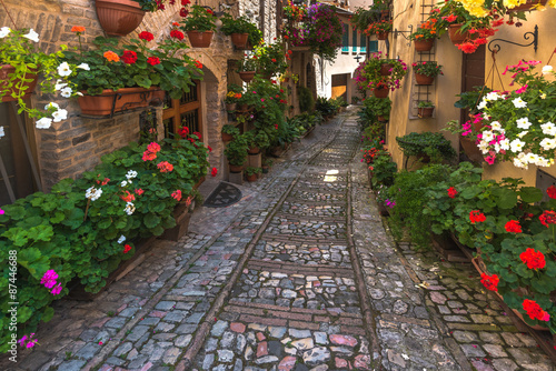 kwiatowa-ulica-w-srodkowych-wloszech-w-malym-sredniowiecznym-umbrii-do