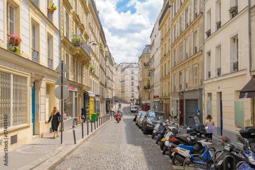 Staande foto Madrid Street view of Montmartre in Paris, France