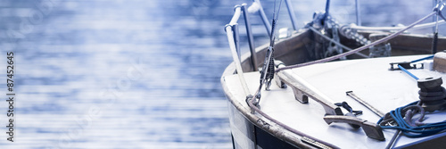Photo Sailing boat, horizontal background
