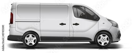 camionnette new blanc-gris