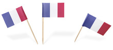Various Cocktail Flags Of France Isolated On White.(series)