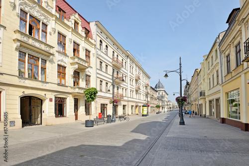 Obraz ul. Piotrkowska - fototapety do salonu