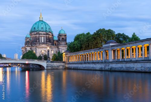 Fototapety, obrazy: Night scene with Berlin Cathedral on Museum Island, Germany