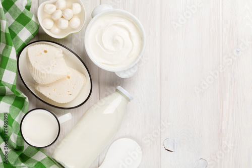 Recess Fitting Dairy products Dairy products. Sour cream, milk, cheese, yogurt and butter