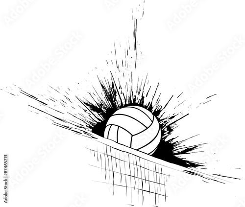 Volleyball Splatter Net - 87465213