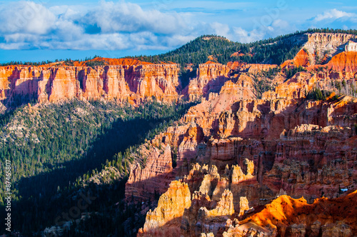 Tuinposter Canyon Ponderosa Bryce Canyon Hoodoos at Sunset