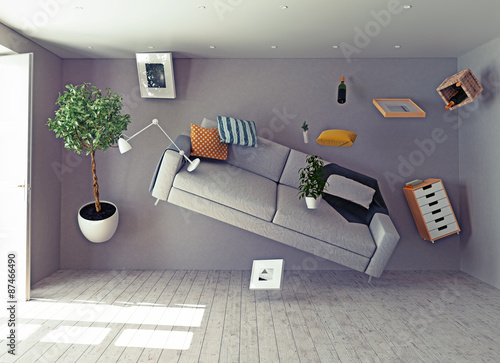 zero-gravity interior. Fototapet