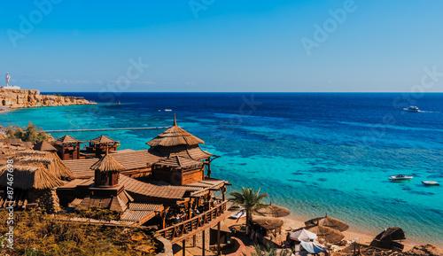 Sharm El Sheikh plaża, rafa koralowa Morze Czerwone, Egipt
