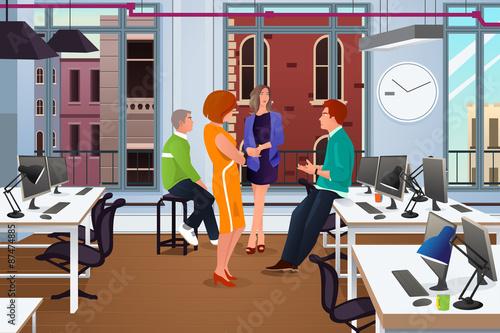 Fotografie, Obraz  Informal Business Meeting in the Office