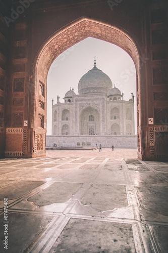 Poster Marron chocolat Taj Mahal