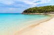 Beautiful sandy Petit Sperone beach with turquoise sea water, Corsica island, France