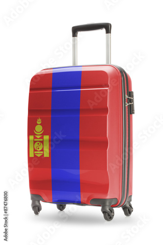 Fototapety, obrazy: Suitcase with national flag on it - Mongolia