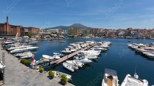 Foto op Plexiglas Cyprus Torre del Greco (Napoli, Italia) - A view of the harbor