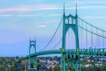 Fototapeta Mosty St. John's Bridge in Portland Oregon, USA