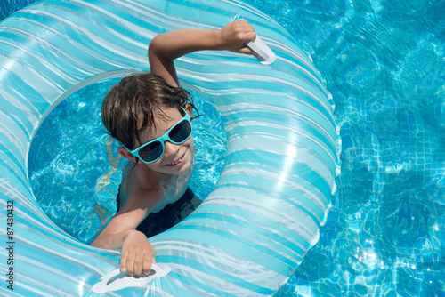 Fototapety, obrazy: child pool float with space for text