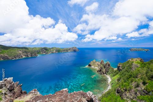Staande foto Zee / Oceaan 小笠原諸島父島 長崎展望台からの眺望