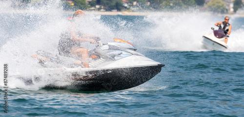 Fotobehang Water Motor sporten jetski race