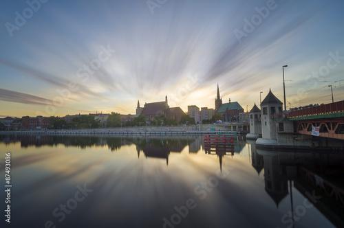 Fototapeta Panorama starego miasta w szczecinie obraz