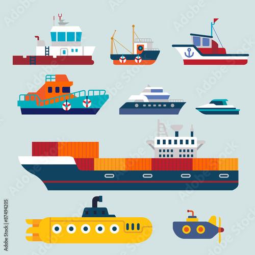 Fotografia  boat and ship