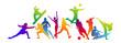 silhouette, sport, sportivo, discipline sportive