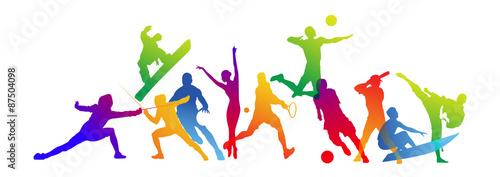 silhouette, sport, sportivo, discipline sportive Canvas Print