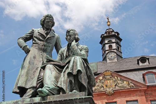Leinwand Poster Brüder Grimm Denkmal Hanau