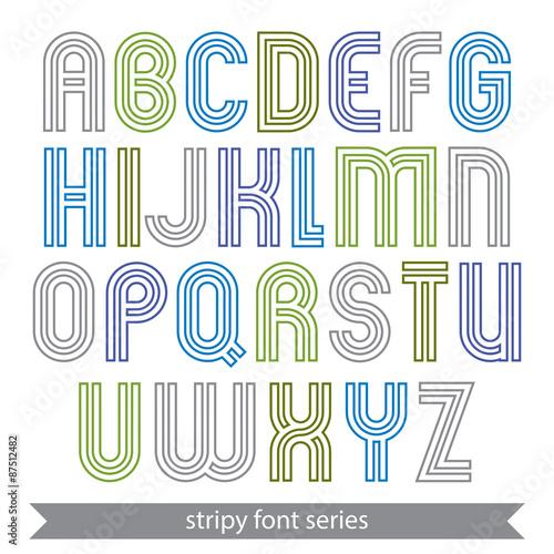 Fotografie, Obraz  Poster elegant stripy typescript best for poster and headline