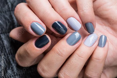 Aluminium Prints Manicure Women's hands with a stylish manicure.