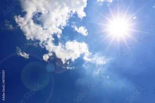 Himmel, Wolken und Sonne Wallpaper Mural