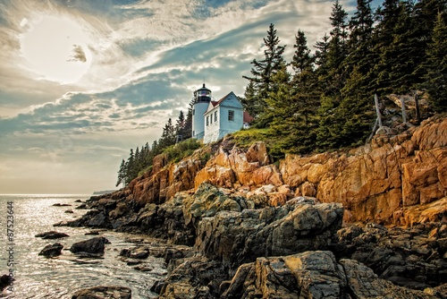 Bass Harbor Headlight Canvas Print