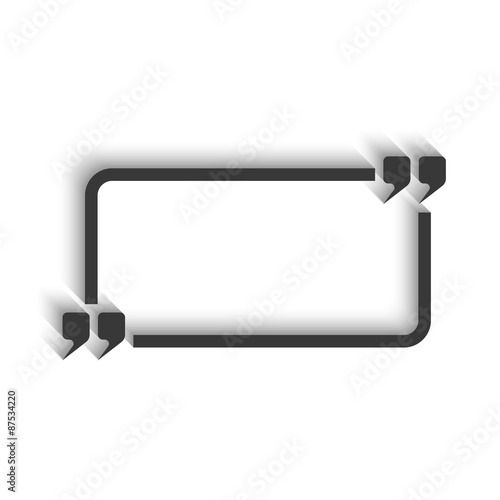Quote and rectangle frame for text isoleted, mockup modern chat massage Poster
