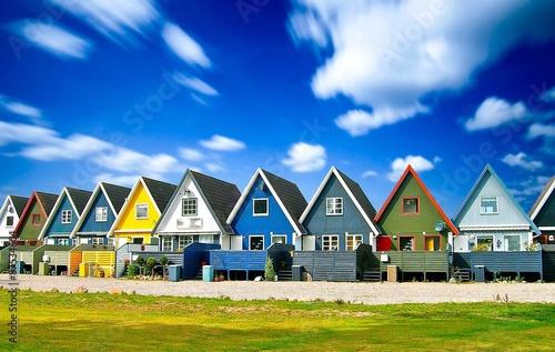 Poster Scandinavie Houses in Scandinavia, Europe