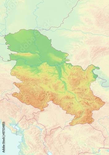 Südamerika Karte Ohne Beschriftung.Karte Von Serbien Ohne Beschriftung Kaufen Sie Diese Illustration