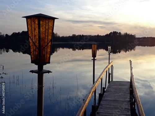 Canvas-taulu Evening lake