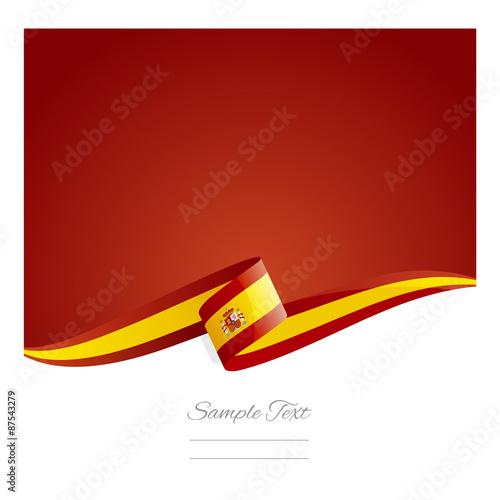Αφίσα  New abstract Spanish flag ribbon