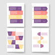 Set of infographic template layouts. Flow chart secuence