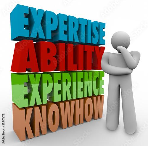 Fotografie, Obraz  Expertise Ability Experience Knowhow Thinker Job Criteria Qualif