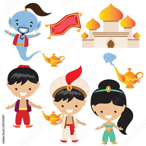 Fotografie, Obraz  Aladdin vector illustration