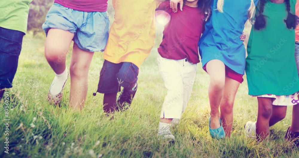 Fototapeta Children Friendship Togetherness Smiling Happiness Concept