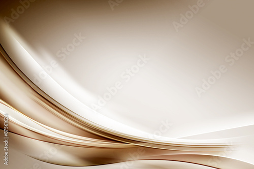 Staande foto Abstract wave Abstract Gold Waves Composition